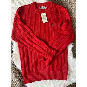 [U.S. Polo Assn.] Red Crew Pullover Sweater NWT